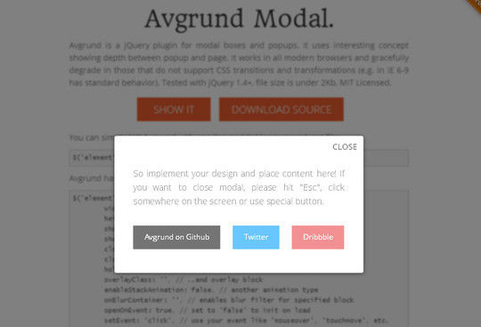 13 Very Useful jQuery Modal Plugins