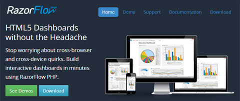 RazorFlow – A PHP Framework For Building Responsive & HTML5-Powered Dashboards