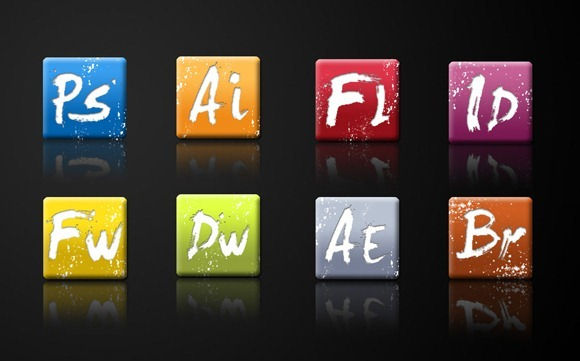 25 Awesome and Colorful Adobe Icons Sets
