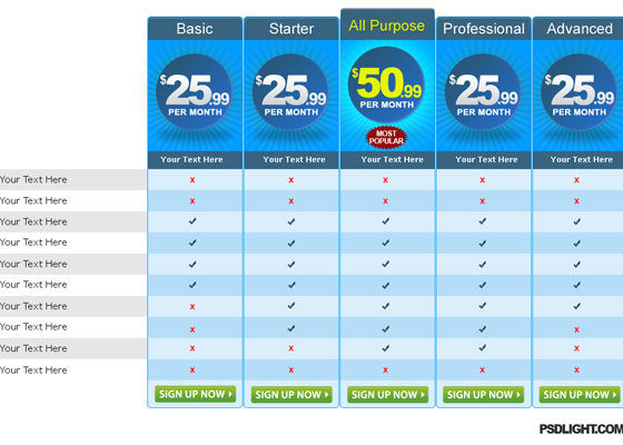 30+ Fresh Pricing Table Designs Inspiration