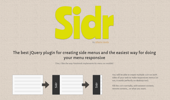 Create Responsive Side Menu with Sidr jQuery Plugin
