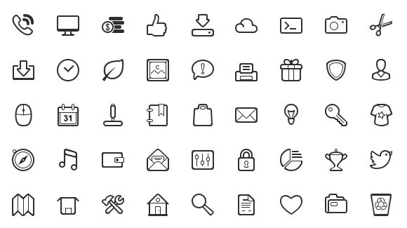 50 Simple and Neat Vector Icons Free for Download