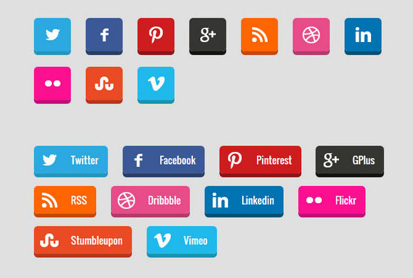 How to Create 3D Social Media Buttons with CSS3