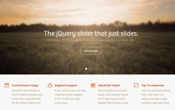 Tiny Responsive jQuery Slider without Fancy Effects