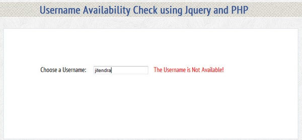 Tutorial: Check Username Availability with jQuery and PHP