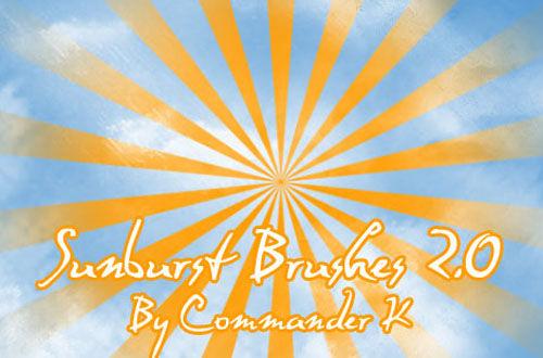 20 Sets Of Free High Resolution Sunburst Brushes For Photoshop