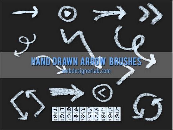 55+ Useful Sets of Photoshop Arrow Brushes