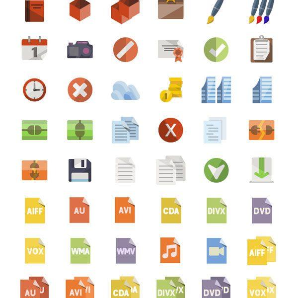3600+ Free Flat Icons Miniset by IconShock
