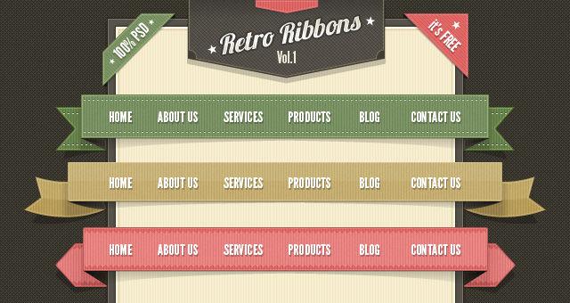 20 High Quality Retro Web Elements