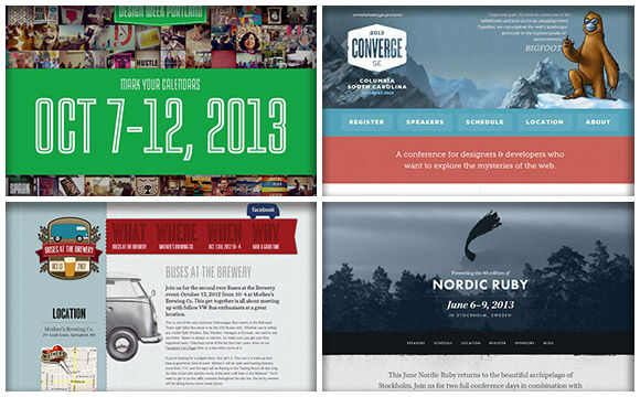 A Showcase of Websites Designed for Events