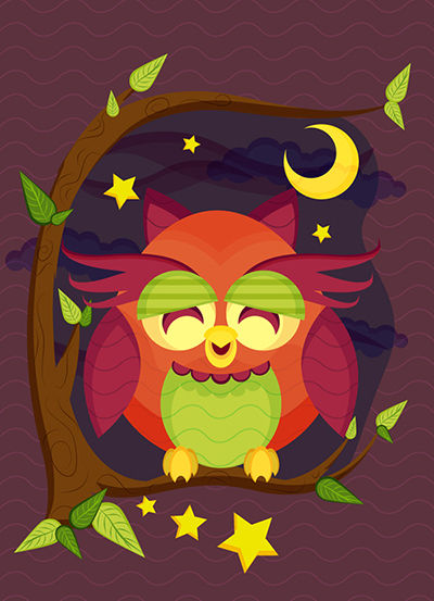 Create a Resting Owl Scene With Brushes and Pattern in Adobe Illustrator