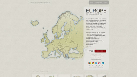 A Collection Of jQuery Maps Plugins – 20 Examples