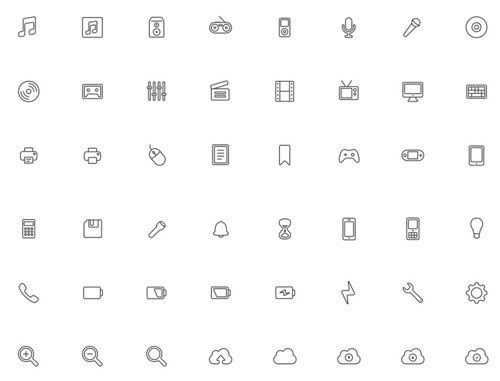 600+ Free Outline Icons For Your Web or App. Projects