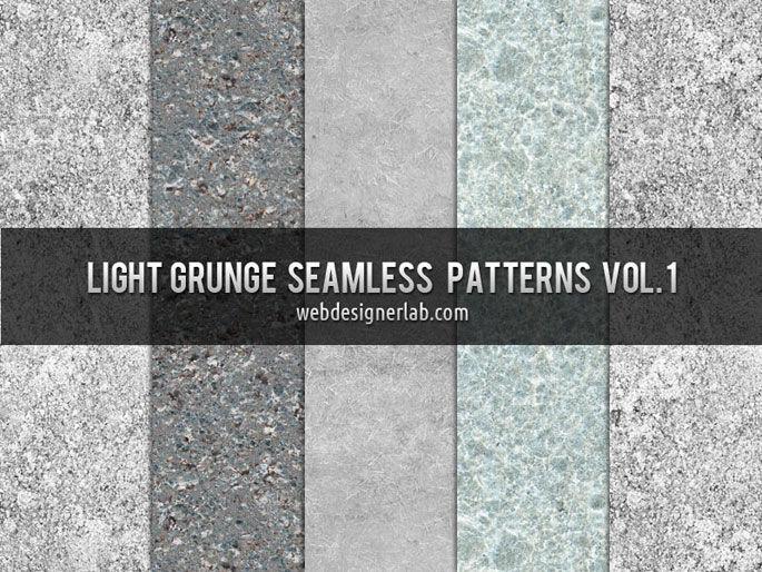 Light Grunge Seamless Patterns