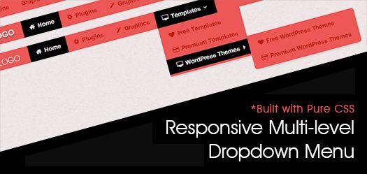 Pure CSS Based Multi Level Responsive Navigation Menu: BootM