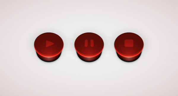 How to Create a Set of 3D Player Buttons in Adobe Illustrator