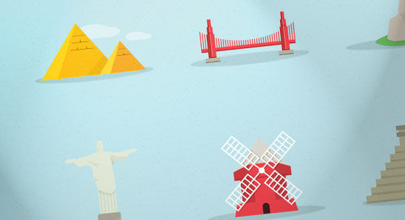 Freebie: Famous Landmarks Icon Set (AI, EPS, PSD)