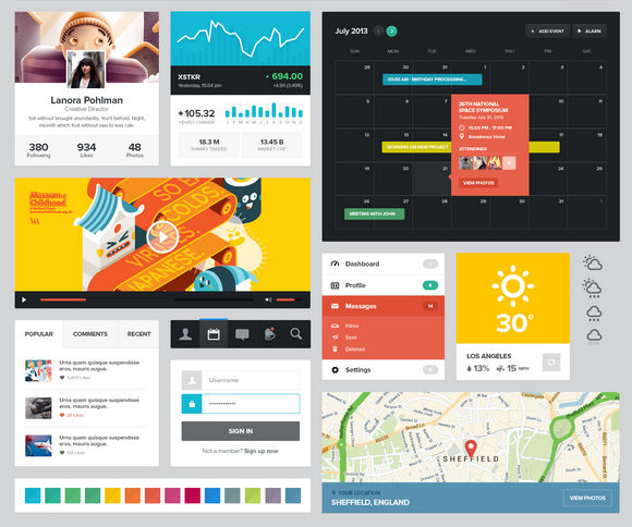 A Beautiful Modern UI Kit Free for Download