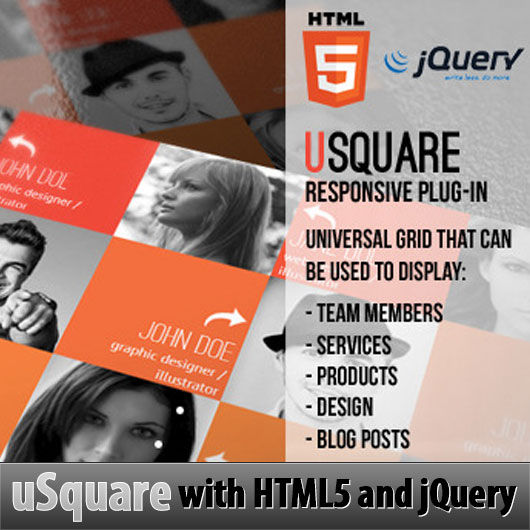 Useful HTML5 and jQuery Responsive Grid Using uSquare – jQuery Plugin