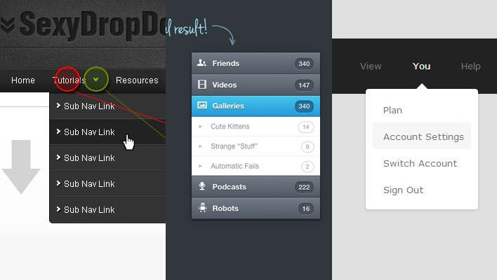 Drop Down Menu: 20+ Helpful Tutorial To Create Menu With Javascript And CSS3