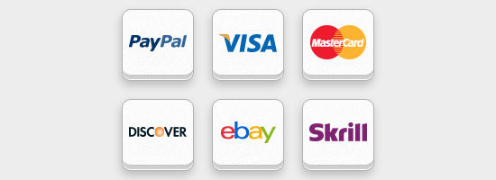 Free Online Payment Icon Set (PSD and PNG)
