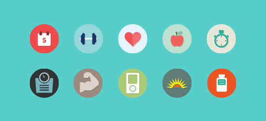The Fitflat Icon Set: 10 Free Flat Icons (PSD and PNG)