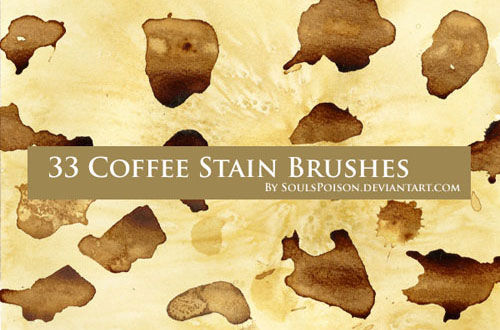 20 Sets Of Free Stain Brushes For Photoshop