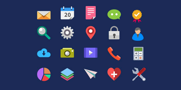 20 Beautiful Free Flat Icons Sets