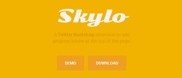 Skylo, A Twitter Bootstrap extension to add progress loader