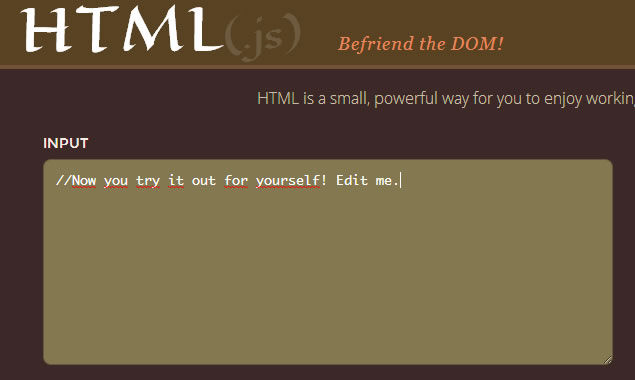 A Way To Work With The DOM, HTML(.js)