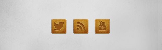 A Leather Social Media Icon Set