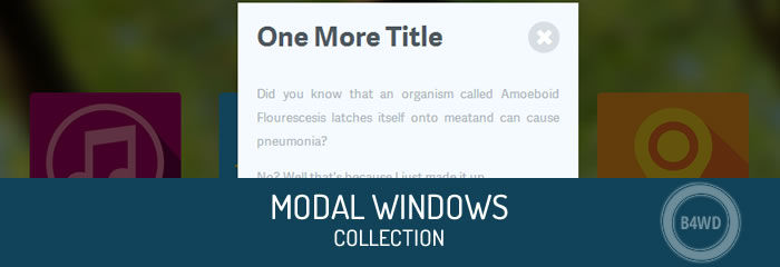 jQuery Modal Windows plugins collection