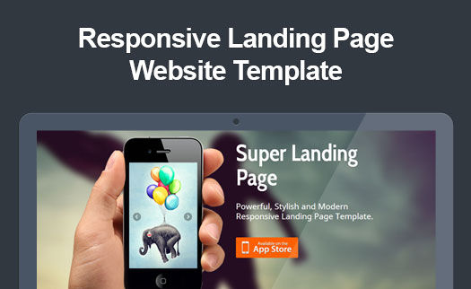 Retina Ready Responsive App Landing Page Website Template – App Landing