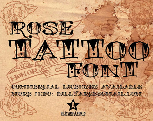 25 free tattoo fonts to download today