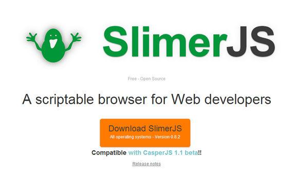 SlimerJS: A Scriptable Browser for Web Developers