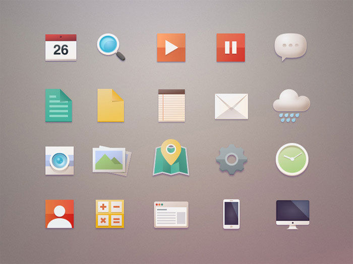 A Roundup Of Stylish Free Icon Sets