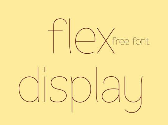 14 New Free Thin Fonts