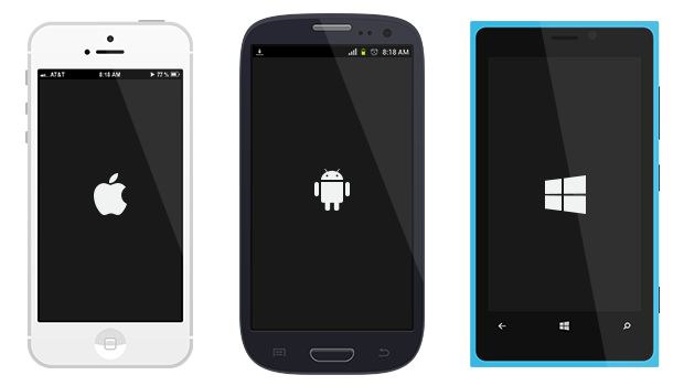 Free And Flat Mobile Devices Design In PSD