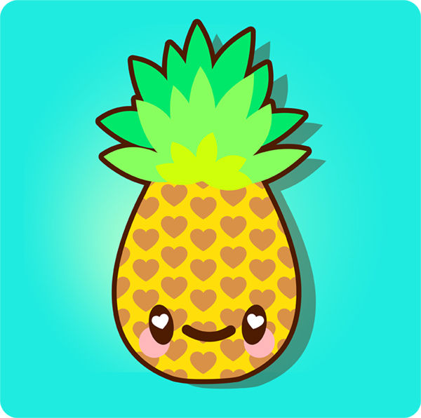 How to Draw a Simple, Super Kawaii Pineapple in Adobe Illustrator