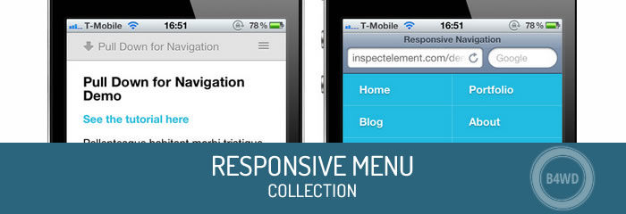 Responsive menu: the smart way to design websites