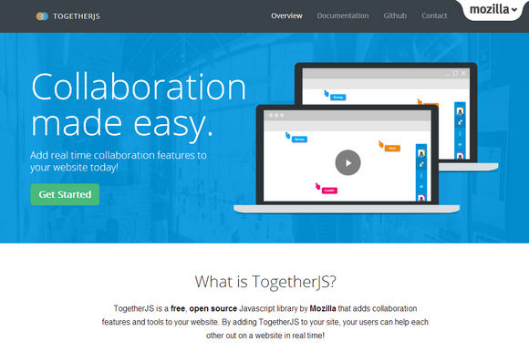 TogetherJS makes it easy for users on your site collaborate in real time.