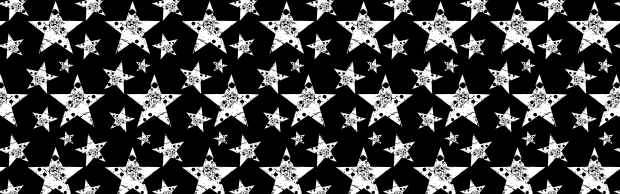 An Amazing Free Black And White Grunge Star Vector Pattern