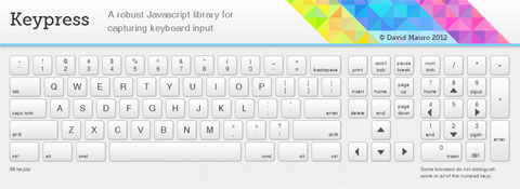 Keypress: a robust Javascript library for capturing keyboard input