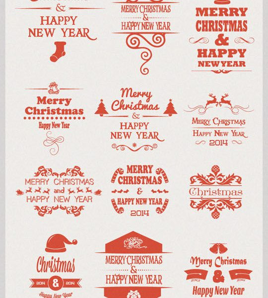 Free: 30 Christmas Vector Badges