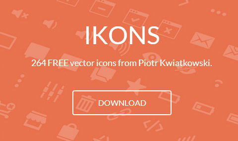IKONS – 264 hand-crafted Vector Icons