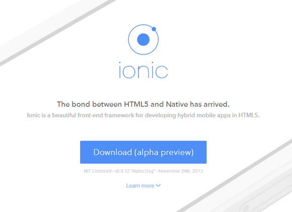 Ionic is a beautiful front-end framework for developing hybrid mobile apps in HTML5