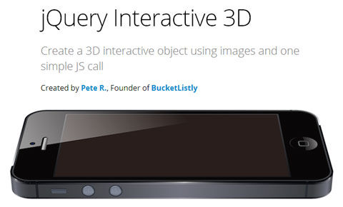 Create a 3D interactive object using images and one simple JS call