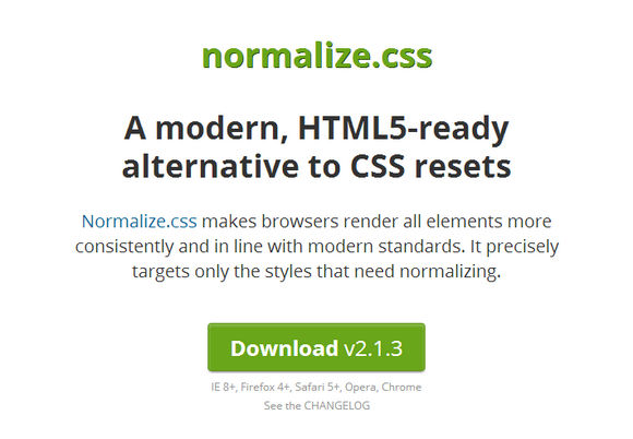 A modern, HTML5-ready alternative to CSS resets