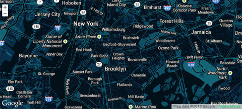 Snazzy Maps, a repository of different color schemes for Google Maps