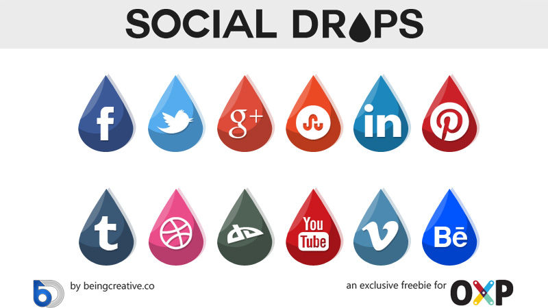 Social Drops Icons